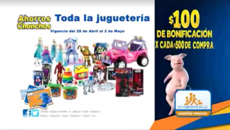 Chedraui $100 de bonificación en juguetes y bicicletas