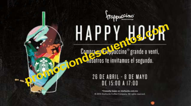 Starbucks Happy Hour 2x1 en frappuccinos
