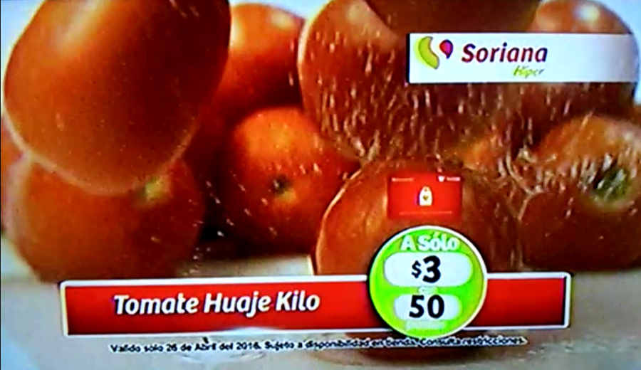 Frutas y verduras Soriana Abril