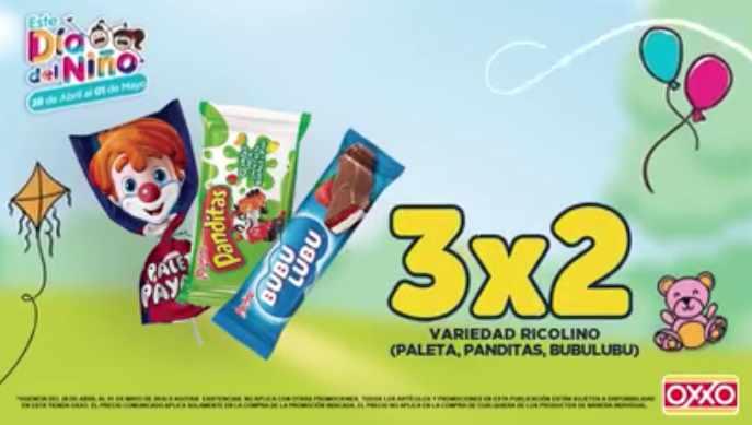 OXXO 3x2 en Dulces Ricolino