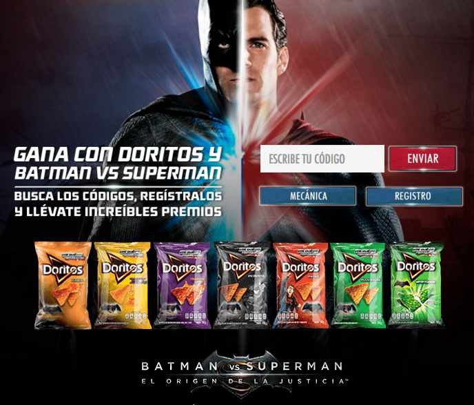 Promoción Doritos Batman vs Superman
