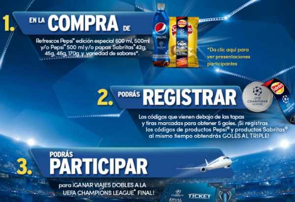 Promoción Pepsi Sabritas Champions League