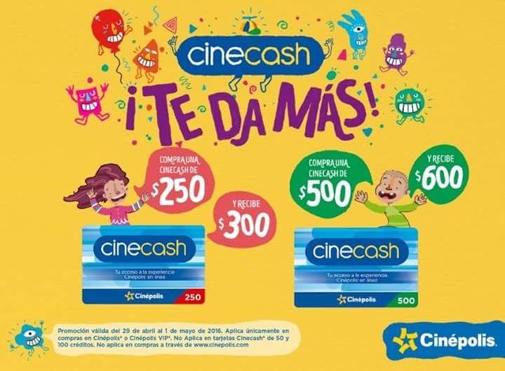 Promociones Cinépolis Dia del Niño con Cinecash