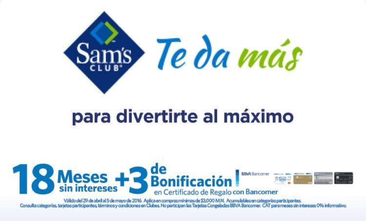 Sam's Club promociones con BBVA Bancomer