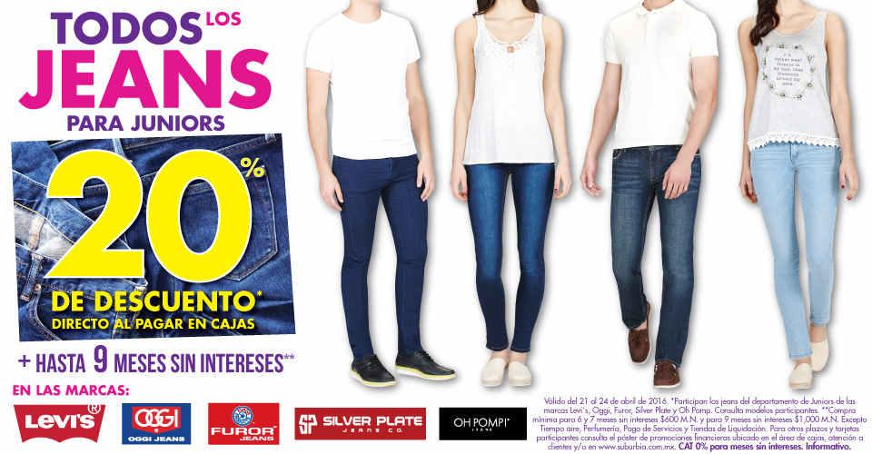Suburbia jeans para juniors