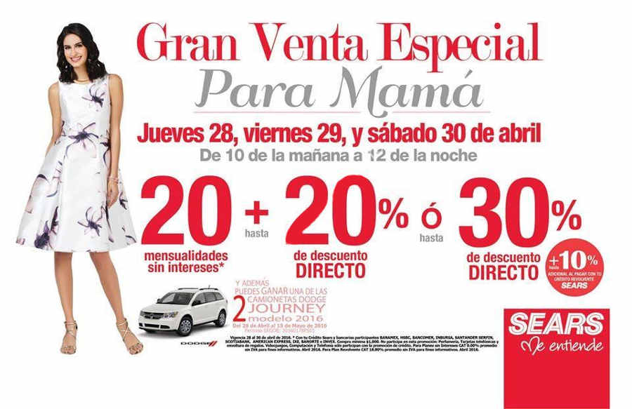Venta Nocturna Sears Abril 2016