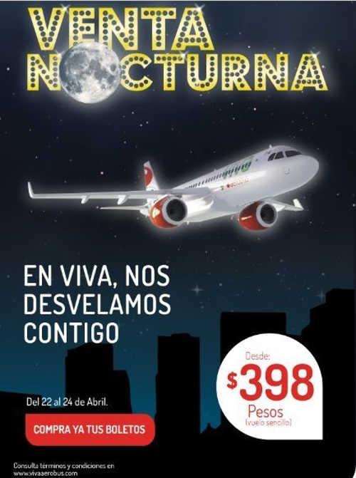 Venta Nocturna VivaAerobus Abril 2016