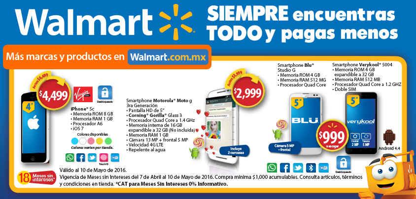 Walmart celulares baratos