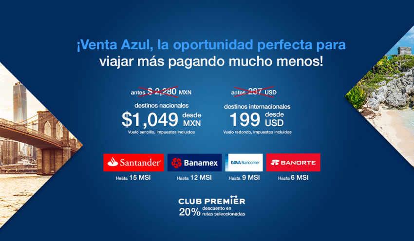 Venta Azul Aeroméxico 2016