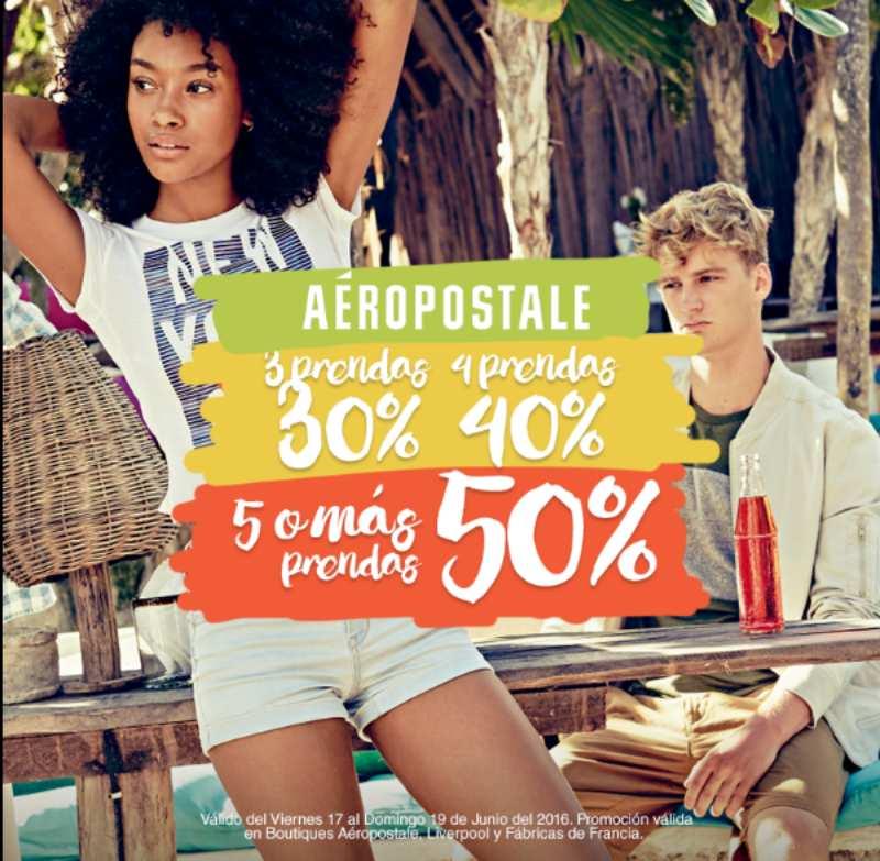 Aeropostale 50% de descuento en ropa