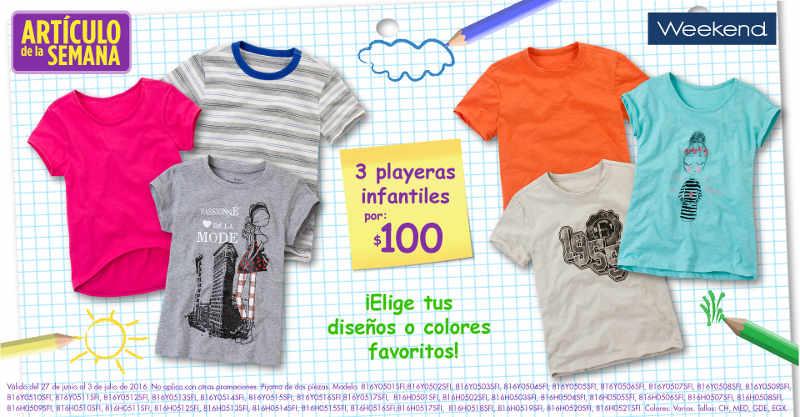 Artículo de la semana Suburbia playeras Infantiles