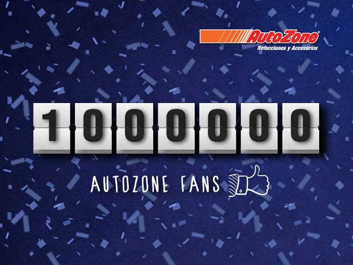 AutoZone cupón de 20% de descuento por 1 millón de fans en Facebook