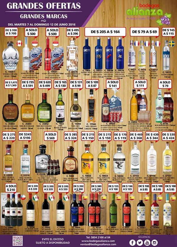 Bodegas Alianza ofertas de vinos y licores Junio 7