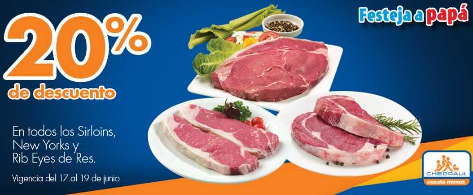 Chedraui ofertas de carnes junio 18