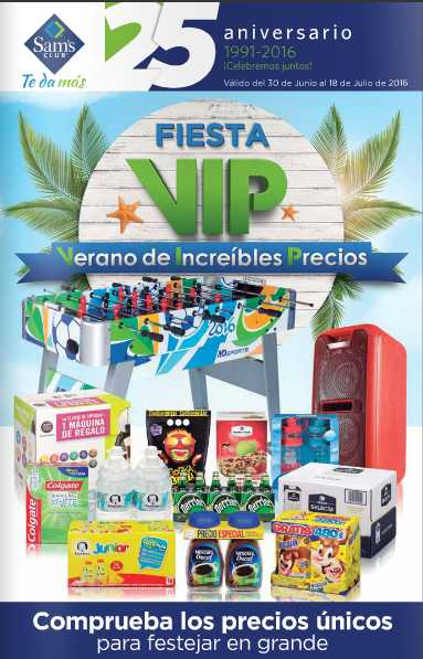 Cuponera Sam's Club Junio Julio 2016
