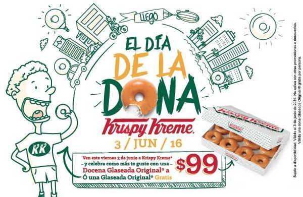 Día de la dona gratis Krispy Kreme junio 2016