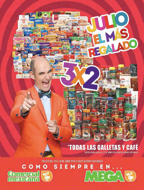 Folleto Julio Regalado 2016 en Comercial Mexicana y Soriana