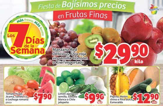Frutas y verduras Soriana Mercado Junio 2016