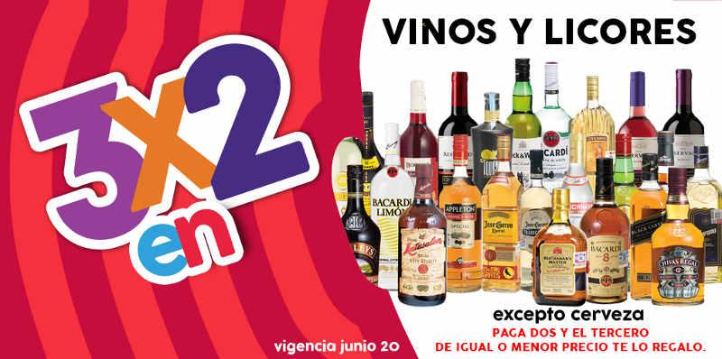 Julio Regalado 2016 3x2 en vinos y licores