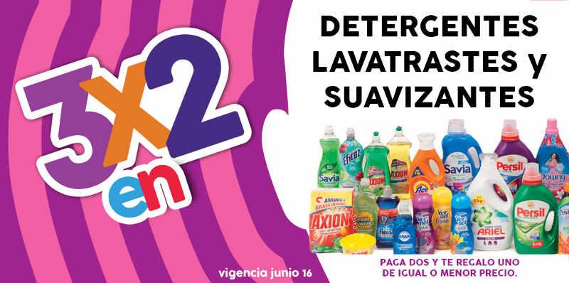 Julio Regalado 2016 3×2 en detergentes, suavizantes y lavatrastes