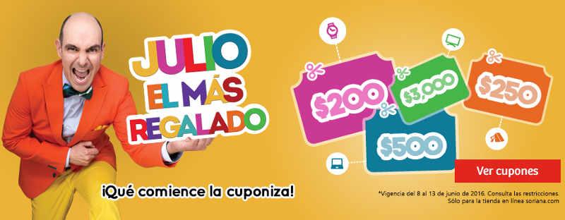 Promoción de Julio Regalado 2016 en Soriana.com
