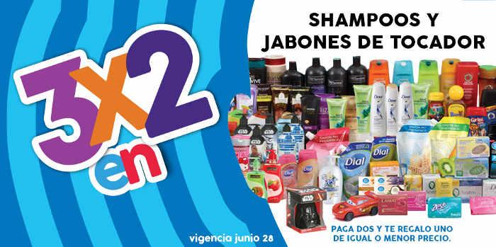 Julio Regalado 2016 3×2 en shampoos, acondicionadores y jabones