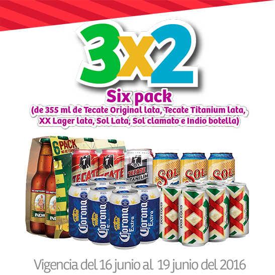 Julio Regalado Soriana 3x2 en six de cervezas, Tecate, Sol y más