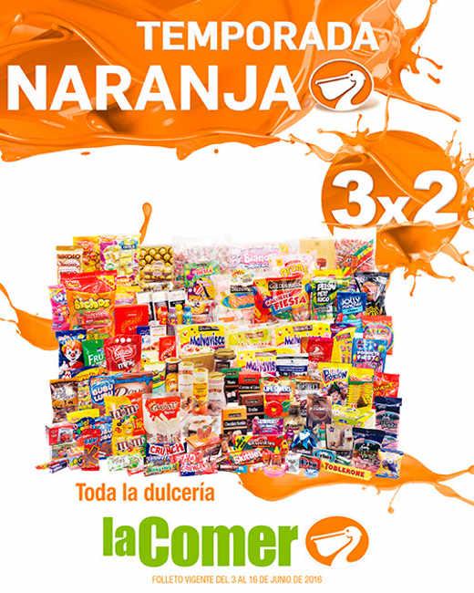 Folleto de ofertas temporada naranja en La Comer