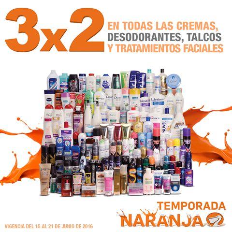 Temporada Naranja en La Comer 3x2 en desodorantes, talcos, cremas y tratamientos faciales