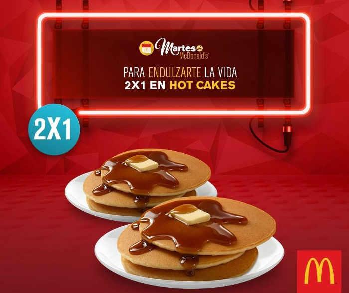 McDonald's cupón de 2x1 en hot cakes