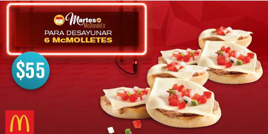 McDonald's cupón 6 McMolletes por $55