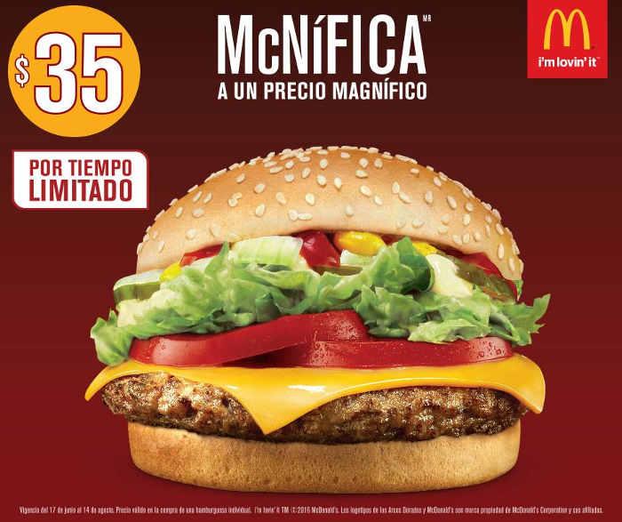 McDonald's McNífica por $35 pesos