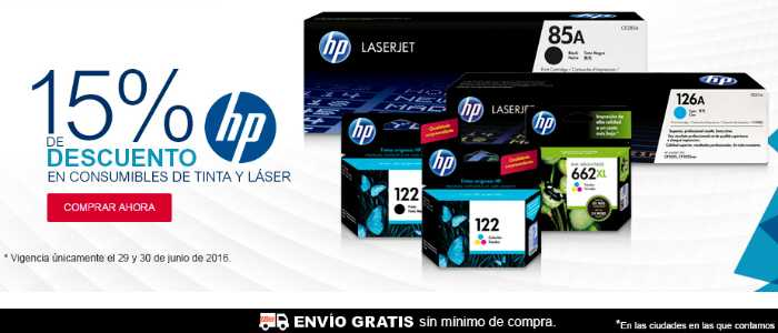 Office Depot descuentos en consumibles HP de tinta y laser