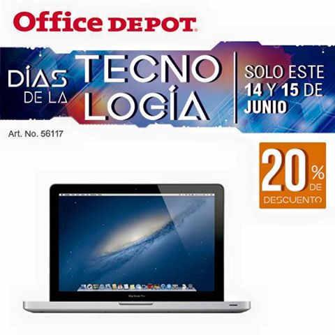 Office Depot días de la tecnología 14 y 15 de Junio