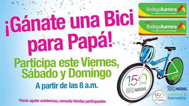 Promoción Bodega Aurrerá Gana una Bici para Papá