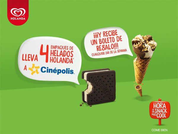 Promoción Holanda Te Invita al Cine Boletos Gratis de Cinépolis