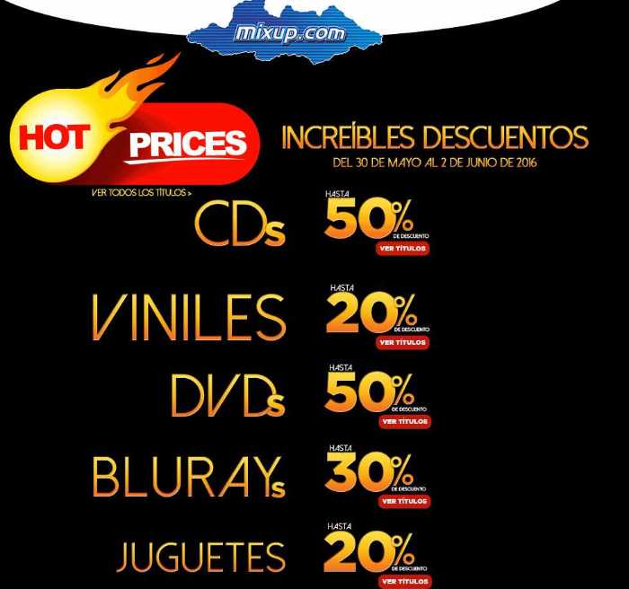 Promociones Hot Sale 2016 en Mixup