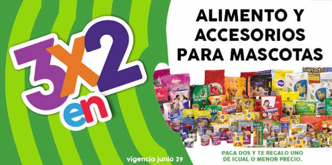 Regalado 2016 oferta de 3×2 en alimento y accesorios para mascotas