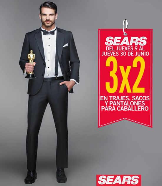 Sears 3×2 en trajes, sacos y pantalones para caballero
