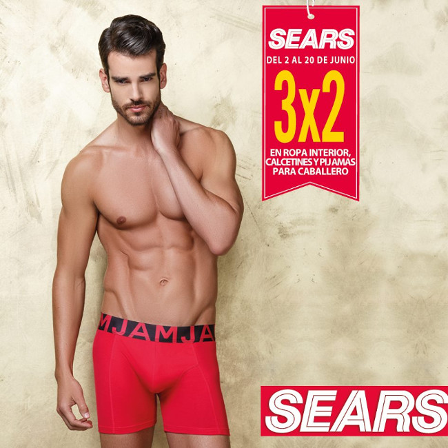 Sears 3x2 en ropa interior calcetines y pijamas para for Ropa interior caballero