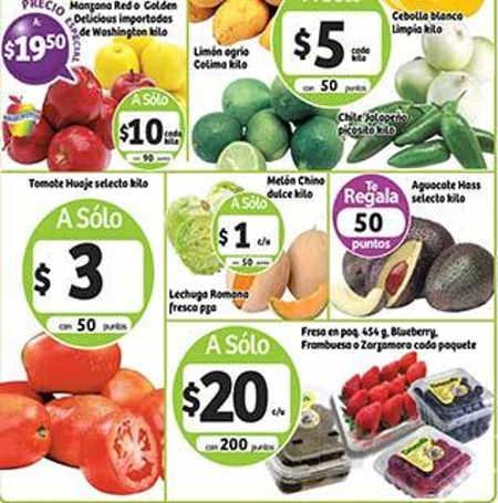 Frutas y verduras Soriana Junio 2016