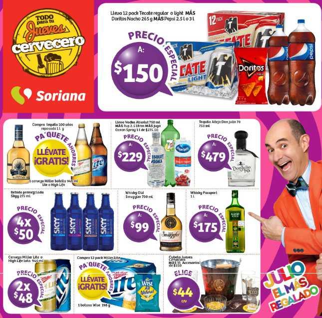 Jueves Cervecero Soriana Junio