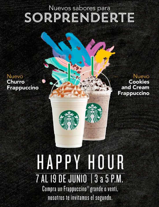 Starbucks Frappuccino Happy Hour Junio 2016