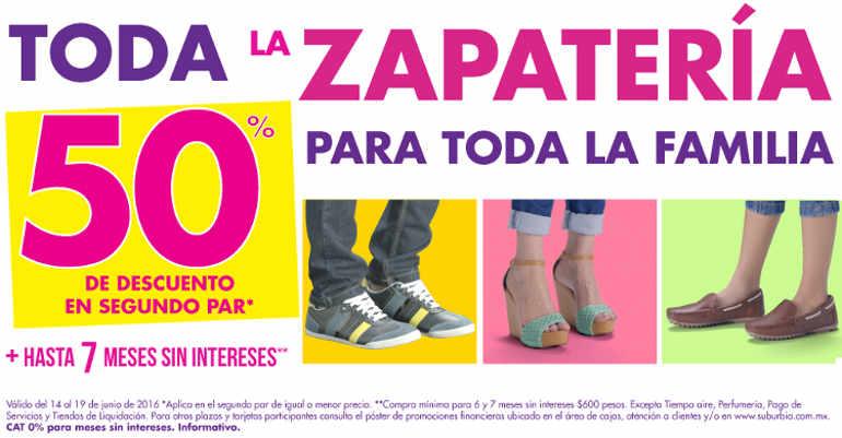 Suburbia 50% de descuento en segunda compra de zapatos