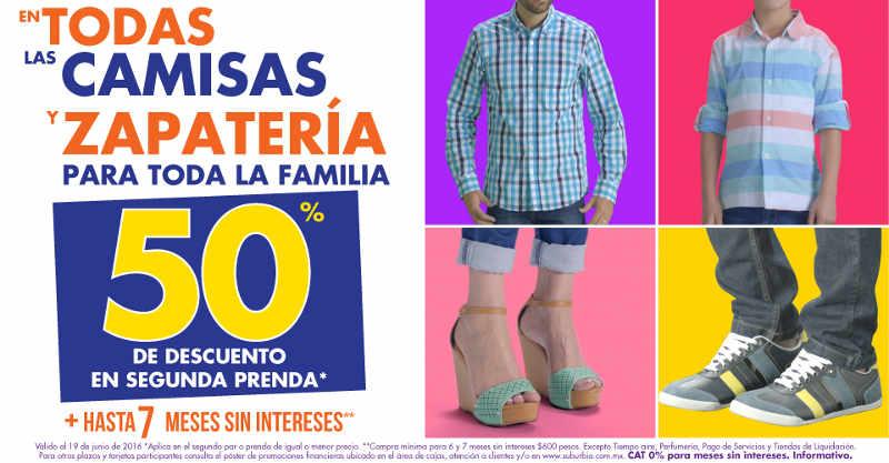 Suburbia descuentos en camisas, zapatos