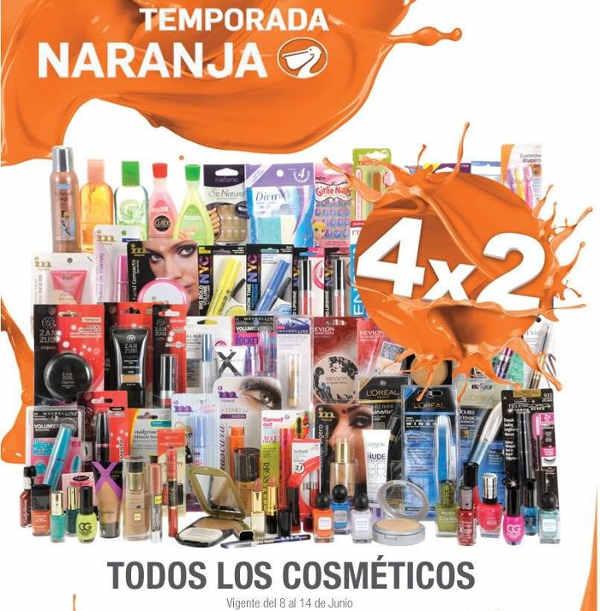 Temporada Naranja en La Comer 4x2 en cosméticos