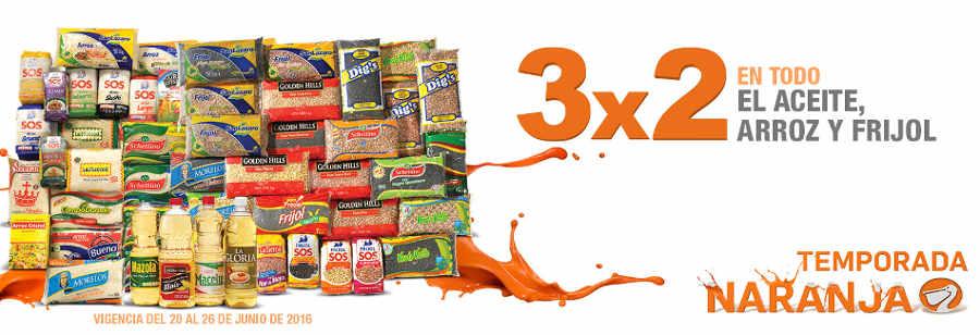 Temporada Naranja La Comer 3×2 en Frijoles, Arroz y Aceite