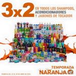 Temporada Naranja en La Comer 3x2 en shampoos, acondicionadores y jabones de tocador