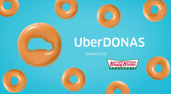 Promoción UBER Donas de Krispy Kreme