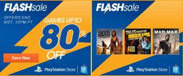 Venta Flash Playstation Store: hasta 80% de descuento en juegos